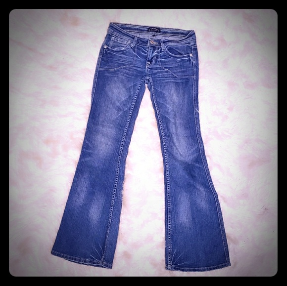 toxic Denim - Low rise flare jeans